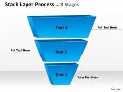 Business Framework Model Blue Stack Layer Sales Diagram