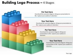 Business Framework Model Building Lego Process 4 Stages Sales Diagram