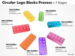 Business Framework Model Building Lego Process 7 Stages Consulting Diagram