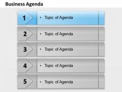 Business Framework Model Business Agenda Strategy Diagram