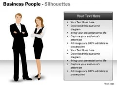 Business Framework Model Business People Silhouettes Sales Diagram