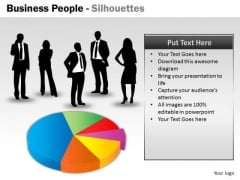 Business Framework Model Business People Silhouettes Strategy Diagram