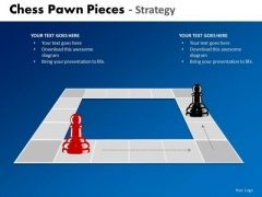 Business Framework Model Chess Pawn Pieces Strategy Sales Diagram