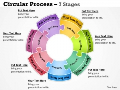 Business Framework Model Circular 7 Stages Sales Diagram