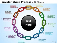 Business Framework Model Circular Chain Flowchart Process Marketing Diagram