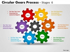 Business Framework Model Circular Gears Process Diagrams Stages Strategy Diagram