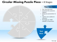 Business Framework Model Circular Missing Puzzle Piece 8 Stages Business Diagram