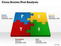 Business Framework Model Cross Arrows Pest Analysis Marketing Diagram