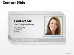 Business Framework Model Design Of Contact Card Business Diagram