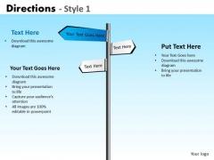 Business Framework Model Directions Style 1 Strategic Management