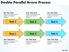 Business Framework Model Double Parallel Arrow Process Business Cycle Diagram