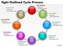 Business Framework Model Eight Outlined Cycle Process Strategy Diagram