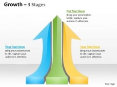 Business Framework Model Growth 3 Stages Strategy Diagram