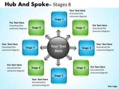 Business Framework Model Hub And Spoke Stages Consulting Diagram