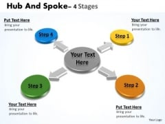 Business Framework Model Hub And Spoke Stages Marketing Diagram