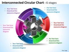 Business Framework Model Interconnected Circular Diagram Chart 6 Stages Mba Models And Frameworks