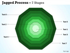Business Framework Model Jagged Proces 7 Stages Business Cycle Diagram