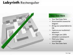 Business Framework Model Labyrinth Rectangular Modal Marketing Diagram