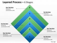 Business Framework Model Layered Process 6 Stages Square Shape Marketing Diagram