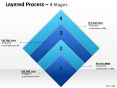 Business Framework Model Layered Process Square 4 Stages Business Diagram