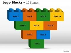 Business Framework Model Lego Blocks 10 Stages Marketing Diagram
