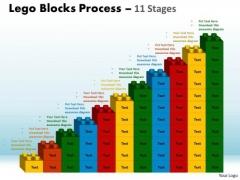 Business Framework Model Lego Blocks Process 11 Stages Strategy Diagram