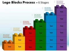 Business Framework Model Lego Blocks Process 6 Stages Consulting Diagram