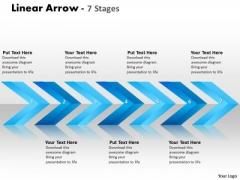 Business Framework Model Linear Arrows 7 Stages Business Diagram
