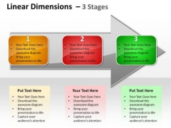 Business Framework Model Linear Dimensions 3 Stages Consulting Diagram