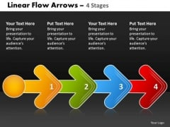 Business Framework Model Linear Flow Arrow 4 Stages 2 Diagram