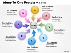 Business Framework Model Many To One Process 8 Sales Diagram