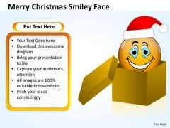 Business Framework Model Merry Christmas Smiley Face Consulting Diagram