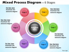 Business Framework Model Mixed Business Process Diagram 6 Stages Marketing Diagram