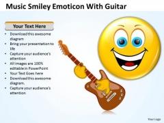 Business Framework Model Music Smiley Emoticon With Guitar Mba Models And Frameworks