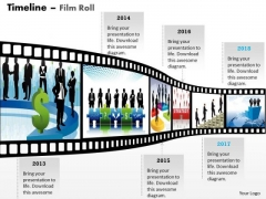 Business Framework Model New Filmstrip Timeline Roadmap Diagram Strategic Management
