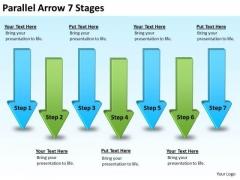 Business Framework Model Parallel Arrow Stages Business Diagram