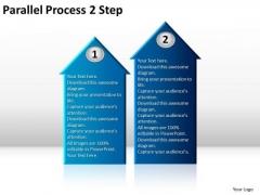 Business Framework Model Parallel Process 2 Step Business Diagram