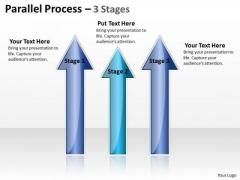 Business Framework Model Parallel Process 3 Stages Marketing Diagram