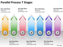 Business Framework Model Parallel Process 7 Stages Strategy Diagram