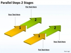 Business Framework Model Parallel Steps 2 Stages Consulting Diagram