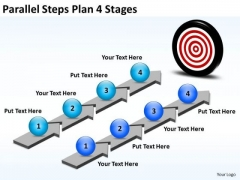 Business Framework Model Parallel Steps Plan 4 Stages Consulting Diagram