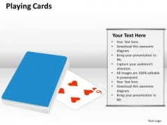 Business Framework Model Playing Cards Strategy Diagram