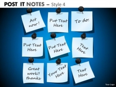 Business Framework Model Post It Notes Style 4 Marketing Diagram