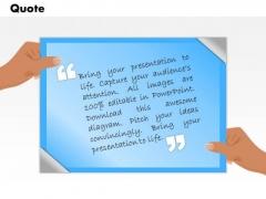 Business Framework Model Quotes Slide For Presentations Sales Diagram