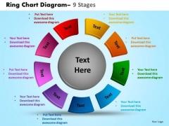 Business Framework Model Ring Chart Diagram 9 Stages Marketing Diagram