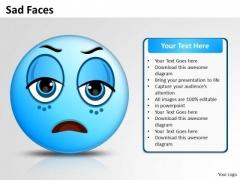 Business Framework Model Sad Face Marketing Diagram
