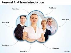 Business Framework Model See Team Introduction Sales Diagram