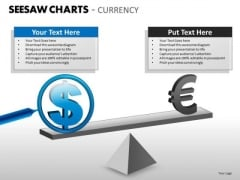 Business Framework Model Seesaw Charts Currency Business Diagram
