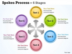 Business Framework Model Spokes Process 6 Stages Consulting Diagram