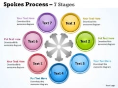 Business Framework Model Spokes Process 7 Stages Business Diagram